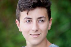 Teenager castano bello fotografia stock libera da diritti