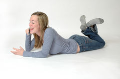Teenager on Cell Phone Stock Photography