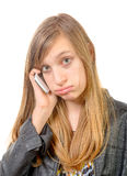 A teenager with a cell phone Royalty Free Stock Photo