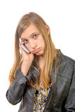 A teenager with a cell phone Royalty Free Stock Photos