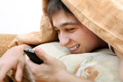 Teenager with Cellphone Stock Photos