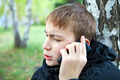 Teenager with Cellphone Stock Photo