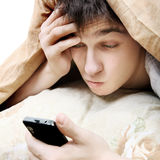 Teenager with Cellphone Royalty Free Stock Photography