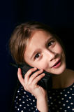 Teenager On a Cellular Phone Royalty Free Stock Photo