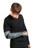 Teenager with a Chain Stock Images