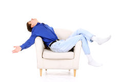 Teenager in chair Stock Photos