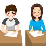 Teenager Cheating Exam Stock Image