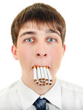 Teenager with Cigarettes Royalty Free Stock Images