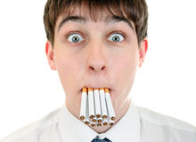 Teenager with Cigarettes Stock Image