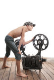 Teenager and cinema Stock Photography