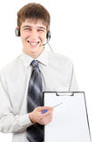 Teenager with Clipboard Stock Photo