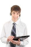 Teenager with Clipboard Royalty Free Stock Images