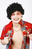 Teenager-clown. Royalty Free Stock Photography