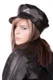 Teenager con il fronte arrabbiato Fotografie Stock