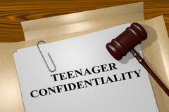 Teenager Confidentiality - legal concept Royalty Free Stock Photography