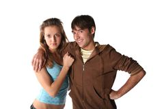 Teenager couple Stock Photography