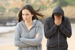 Teenager couple break up Stock Photography