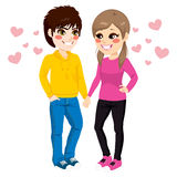 Teenager Couple Holding Hands Stock Image