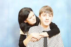 Teenager couple romance Royalty Free Stock Photography