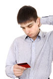 Teenager with Credit Card Stock Photography