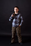 Teenager with a crossbow Stock Image