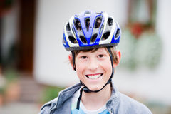 Teenager cycling Stock Photography