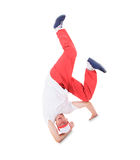 Teenager dancing break dance Stock Images