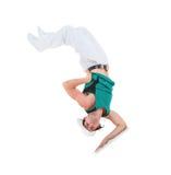 Teenager dancing break dance Royalty Free Stock Image