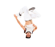 Teenager dancing break dance in action Royalty Free Stock Image