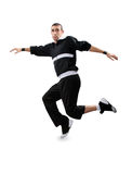 Teenager dancing break dance in action Royalty Free Stock Photography