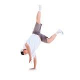 Teenager dancing break dance in action Royalty Free Stock Image
