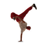 Teenager dancing break dance in action Royalty Free Stock Photo