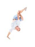 Teenager dancing break dance in action Stock Photos