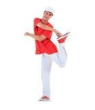 Teenager dancing break dance in action Royalty Free Stock Photos