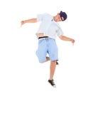 Teenager dancing break dance in action Stock Photo