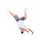 Teenager dancing break dance in action Stock Image