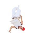 Teenager dancing break dance in action Stock Images
