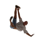 Teenager dancing break dance in action Stock Photography
