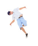 Teenager dancing break dance in action Stock Photo