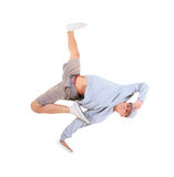 Teenager dancing break dance in action Royalty Free Stock Images