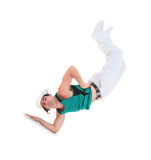 Teenager dancing break dance in action Royalty Free Stock Photo