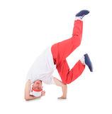 Teenager dancing break dance in action Stock Image