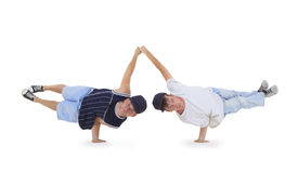 Teenager dancing breakdance in action Royalty Free Stock Photo