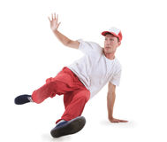 Teenager dancing breakdance in action Stock Photo