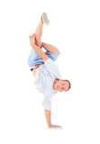 Teenager dancing breakdance in action Stock Image