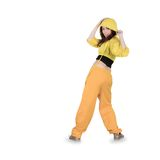 Teenager dancing breakdance in action Stock Photography