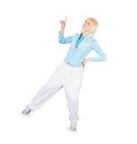 Teenager dancing breakdance in action Stock Images