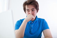 Teenager desperation Royalty Free Stock Photo