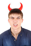 Teenager with Devil Horns Royalty Free Stock Photography