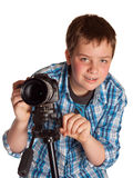 Teenager with digital camera Royalty Free Stock Photography